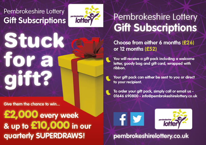 Welcome to Pembrokeshire Lottery, helping local businesses to create