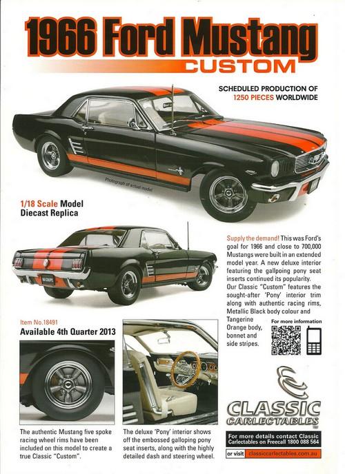 NEW PRE-ORDERS - Kalgoorlie Gold EH, Custom 1966 Mustang