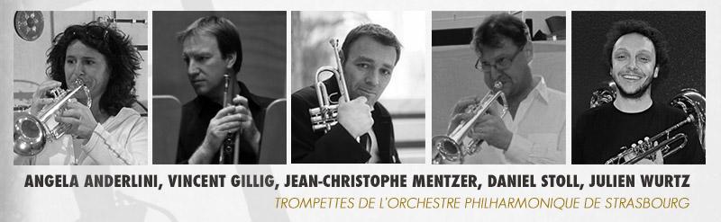 Les trompettistes de l'orchestre Philharmonique de Strasbourg