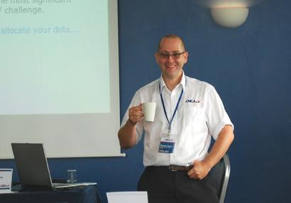 Darren Topley delivering OM Training in Singapore