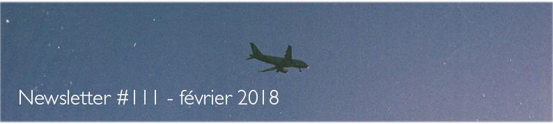image d'en-tête de la newsletter numéro 111 des éditions Le mot et le reste, janvier 2018